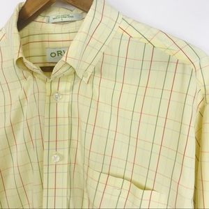 Orvis Mens Button Front Shirt Size Large